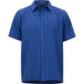 Marmot Eldridge Bluzka z krótkim rękawem Mężczyźni niebieski
